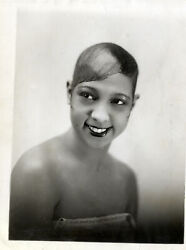 Josephine Baker 1927 Vintage Original 9x7 French Photo From Early In Career