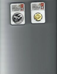 2020-w End Of World War Ii 75th Anniversary Pr69 Uc Gold And Pr70 Silver Coins