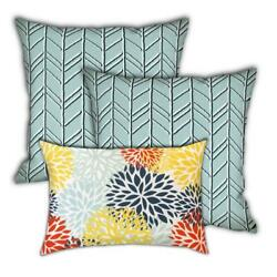 Joita Navajo Sunsets Polyester Zippered Pillow Covers In Green Set Of 3