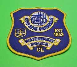 Waterbury Connecticut Ct Est. 1853 4 Police Patch Free Shipping