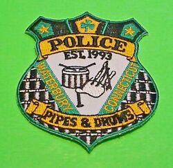 Waterbury Connecticut Ct Pipes And Drums Small 3 1/8 Police Patch