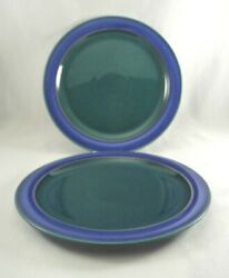 2 Denby Metz Blue And Green 8-3/4 Salad Plates England Multiple Available