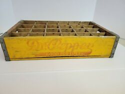 Vintage Rare 1940's Dr Pepper Good For Life / Squirt Wood Soda Crate