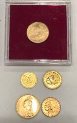 5- Assorted Gold Coins- See Other Gold Silver Etc.