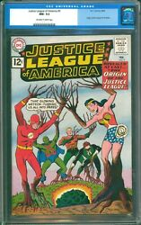 Justice League Of America 9 Cgc 9.2 Nm- 1st Origin Extremely Sharp Copy