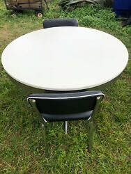 Retro Dining Set By Coaster Furniture-table And Two Chairs
