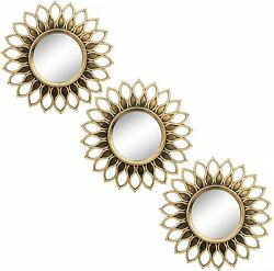 Small Round Mirrors for Wall Decor Set of 3 Great Home Accessories for Bedroom