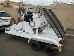 Meco 65 Hp Walk Behind Concrete Saw And 2 Axle Trl Only 351 Hrs