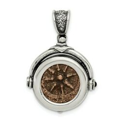 925 Sterling Silver Ancient Coins Bronze Widows Mite Coin Pendant Charm