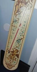 Vintage Yorkraft 1967 Thermometer Wooden Sign 26 X 5.25 With Cherubs Htf Rare