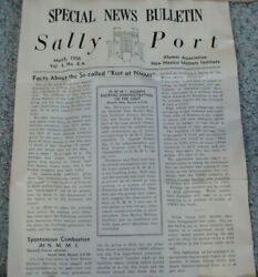 Sally Port Nmmi Military Academy Institute Bulletin Roswell New Mexico 1956