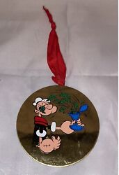 Vintage Popeye Christmas Ornament Brass United King Features