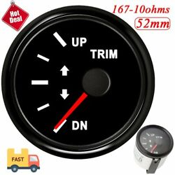 52mm 2 Marine Trim Gauge Meter 167-10ohm Up-dn Auto Car Boat With Red Backlight