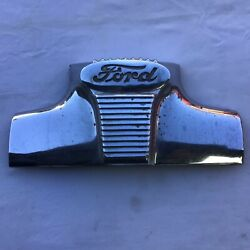 1948 Ford Car Center Grill Emblem Used Great For Painting Or Chroming Original