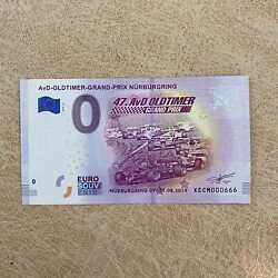 0 Euro Souvenir Banknote Avd Oltimer Germany Special Number Xecm 000666