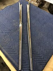 1959 Cadillac Convertible Top Rear Pinch Well Snap Trim Excellent Condition.