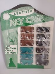 Vintage Top Grain Leather Key Case Full Store Display 12 Pieces Total New
