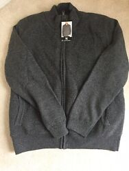 Nwt Bc Clothing Menand039s Full Zip Sherpa Lined Sweater Jacketcharcoal Xxl