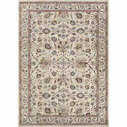 Monarch 2and0393w X 7and0397l Power-loomed Kerman Vase Area Rug In Antique Cream/red