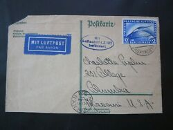 Germany Stamps Used Zeppilin Cover Friedrichshafen/nyc Usa Cancels Oct. 1928