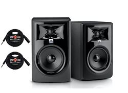 Pair Jbl 306p Mkii Powered 6 15.24 Cm Two-way Studio Monitors W 10ft Cables