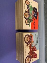 1954 Topps World On Wheels Complete 160 Card Set Vintage Automobiles
