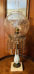 Henry Hooper Astral Sinumbra Oil Lamp Not Electrified