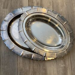 International Silver Company Silver Tone Early American Oval Dish Platter 4132
