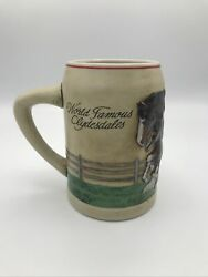 Budweiser Clydesdale Horses Mare And Foal Beer Stein Mug Exclusive Hand Painted