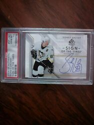 2006-07 Sp Authenic Sidney Crosby Sign Of The Times Auto Psa 10 Gem Mint