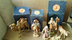Vintage Fontanini Heirloom Nativity, Camel, Cow, Eli And More Lot Of 8 Iob