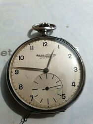 Antique Silver Military Jeger Lecouter Ww2 Pocket Watch