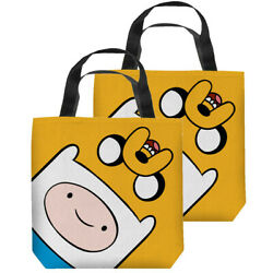 Adventure Time Finn And Jake Heads Double Sided Tote Bag