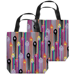 Adventure Time Paint Drip Pattern Double Sided Tote Bag