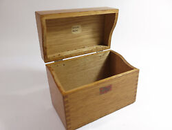 Antique Early 1900s Weis Solid Oak Desk-top Index Card File Box.