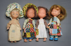 Vintage Holly Hobbies Betsy Clark Dolls Lot Knickerbocker Toy Co. 1970and039s 6 Tall