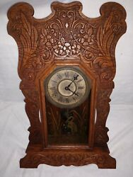 Antique Vintage Sessions Parlor Kitchen Mantle Clock With Chime Works