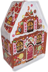 The Silver Crane Company Tin Large Embossed Gingerbread House