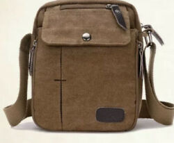 Jinhuoda Crossbody Canvas Universal Messenger Shoulder Bag Brown Brown Straps $18.99