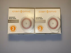 Clarisonic Radiance Brush Head Lot Of 2 Free Shipping