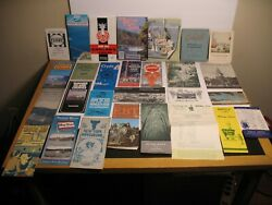 Vintage Lot Travel Brochures Booklets Maps Holiday Inn Postcards Pa Ny Il Md