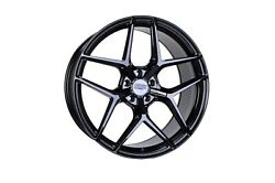 22x8.5 22x10 5-114.30 Str908 Staggered Gloss Black Made For Honda Accord