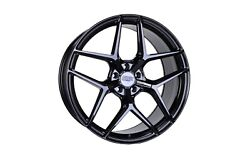 22x8.5 22x10 5-112 Str908 Staggered Gloss Black Made For Audi A7