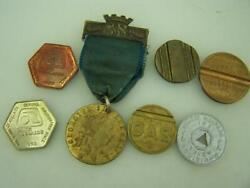 Assortment Of Tokens Gas Public Welfare Phone And Good Old Days With Hangar 2908