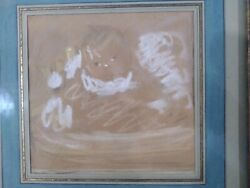 Julia Beatrice How Early 20th Century Baby Pastel Painting