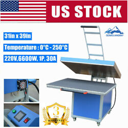 220v 31 X 39in Large Format Clamshell Textile Thermo Transfer Heat Press Machine