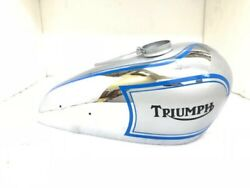 Triumph T80 Silver And Chrome With Blue Stripes And Black