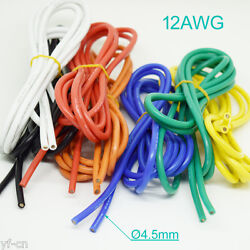 50 Meter 12awg Flexible Soft Silicone Wire Tin Copper Rc Electronic Cable 7color