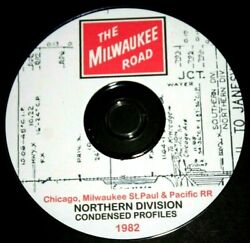 Milwaukee Road Cmstpandp 1982 Northern Division Condensed Profile Pdf Pages On Dvd