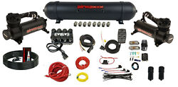 3/8 Complete Air Management W/ Airmaxxx 480 Black Compressor And Evolve Manifold